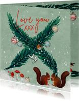 Kerstkaart voor geliefden