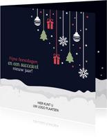 Kerstkaart voor zakelijke relatie