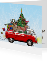Kerstkaart vw bus pickup av