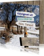 Kerstkaart winters park