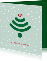 Kerstkaart zakelijk Wifi kerstboom