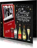 Kerstkaart zakelijk wijn