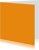 Kies je kleur oranje vierkante kaart