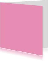 Kies je kleur roze vierkante kaart dubbel