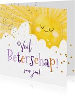 KiKa beterschapskaart stralende zon en wolk