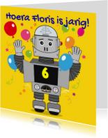 Kinderfeest Robot uitnodiging