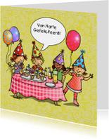 Kinderfeest verjaardagskaart