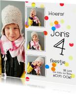 Kinderfeestje confetti collage
