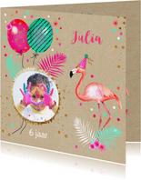 Kinderfeestje flamingo ballonnen