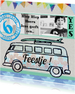 Kinderfeestje jongen auto bus