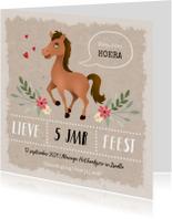 Kinderfeestje meisje thema paarden