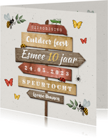 Kinderfeestje outdoor insecten wegwijzers speurtocht