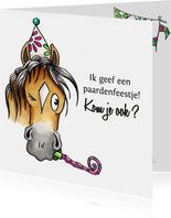 Kinderfeestje uitnodigingen paardenfeestje