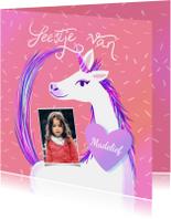 Kinderfeestje Unicorn met foto