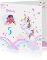 Kinderfeestje unicorn regenboogjes