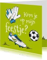 Kinderfeestje voetbal tekening