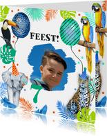 Kinderfeestje wilde dieren tropisch