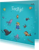 Kinderfeestjes - Kinderfeestje zwemmen vrolijke vissen