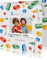 Kindergeburtstag Einladung Zwillinge Lego Party mit Foto