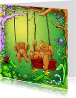 Kinderkaart beren schommel