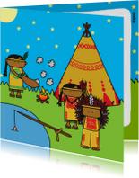 Kinderkaart Indianen