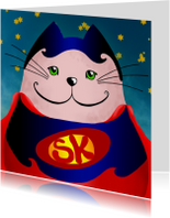 Kinderkaart kat superman