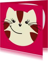 Kinderkaart lieve kat