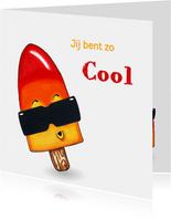 Kinderkaart met cool waterijsje