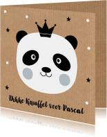 Kinderkaart pandabeer kraftprint