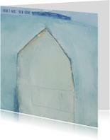 kKerstkaart kunst winterhuis