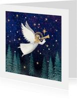 Klassieke kerstkaart met Engel