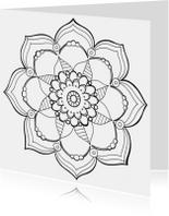 Kleurplaat volwassenen mandala
