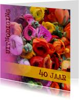 Kleurrijke italiaanse bloemen
