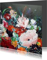 Kunst bloemenschilderij Rijk