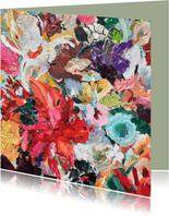 Kunst kleurrijke bloemen