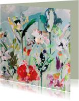 Kunst paletstukken bloemen