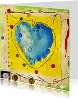 Kunstkaart a heart for everyone
