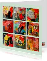 Kunstkaart abstract IW