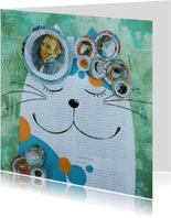 Kunstkaart - De kat van Vincent - door Sonja Kemp