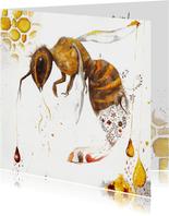 Kunstkaart focus bijen