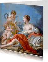 Kunstkaart Francois Boucher. Allegorie op de Muziek