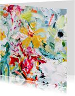 Kunstkaart gouden bloem vk IF