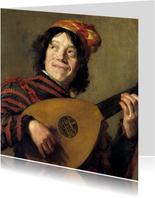 Kunstkaart van Frans Hals. De luitspeler