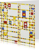 Kunstkaart van Piet Mondriaan. Broadway Boogie Woogie
