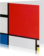 Kunstkaart van Piet Mondriaan. Compositie
