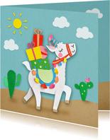 Lama verjaardagskaart