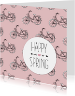 Lente happy spring fiets