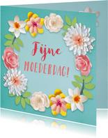 Lentebloemen moederdagkaart