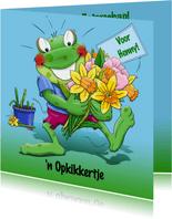 Leuke beterschapskaart opkikkertje met lentebloemen