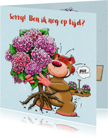 Leuke sorry kaart voor een vriendin met Hortensia-struik
